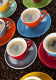Colorful Espresso cups Royalty Free Stock Image