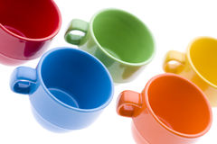 Colorful Espresso Mugs Royalty Free Stock Photos
