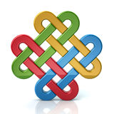 Colorful eternal knot Stock Photo