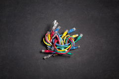 Colorful ethernet network cables Royalty Free Stock Images