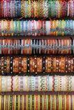 Colorful ethnic bracelets. Some colorful ethnic bracelets from north africa, at a fair, portrait cut Stock Photography