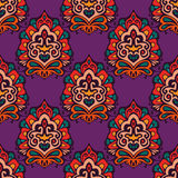 Colorful Ethnic Festive  Floral Vector Pattern Royalty Free Stock Images