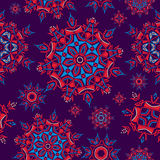 Colorful ethnic floral pattern background Royalty Free Stock Photo