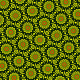 Colorful ethnic floral pattern Royalty Free Stock Images