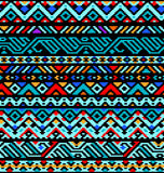 Colorful ethnic geometric aztec seamless pattern,  Stock Images