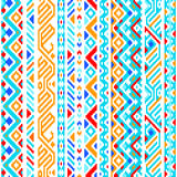 Colorful ethnic geometric aztec seamless pattern Royalty Free Stock Photos