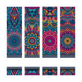 Colorful ethnic identity banners. Festive colorful ornamental vector ethnic banner set Stock Photo