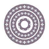 Colorful ethnic mandala - decor vector element. Abstract round ornament. Zentangle Mandala stock illustration