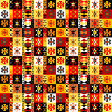 Colorful ethnic motifs background Stock Images
