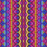 Colorful ethnic ornament seamless pattern design. Vector texture royalty free illustration