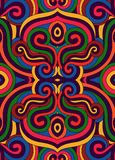 Colorful ethnic ornament. Ethnic ornament with colorful swirls. Can be set as seamless pattern Stock Photo