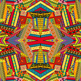 Colorful ethnic patchwork design Royalty Free Stock Photos