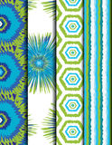 Colorful ethnic pattern. Blue and green colorful ethnic Seamless pattern, vector Royalty Free Stock Photo