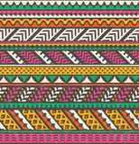 Colorful ethnic print. Vector seamless background. stock illustration