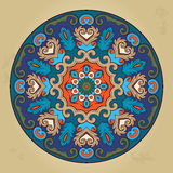 Colorful ethnic round ornamental mandala. Oriental arabesque pattern background. Vector illustration Stock Photography