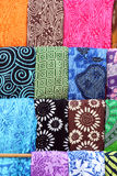 Colorful ethnic scarves. Some colorful ethnic scarves from north africa, at a fair, portrait cut Stock Photos