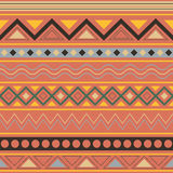 Colorful ethnic seamless geometric pattern Stock Photography