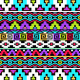 Colorful ethnic seamless pattern Royalty Free Stock Photos