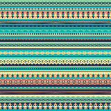 Colorful ethnic seamless pattern design. With vertical strips.Vector illustration. Turquoise background vector illustration