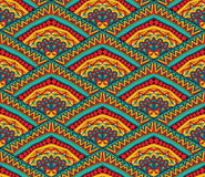Colorful Ethnic Seamless Pattern. Geometric ethnic pattern. Seamless abstract tribal ornament in bright colors. Can be used for printing, fabrics, paper or scrap Stock Photography