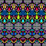 Colorful ethnic seamless pattern Stock Photos