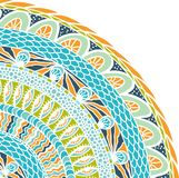 Colorful ethnicity round ornament, mosaic vector Stock Photography