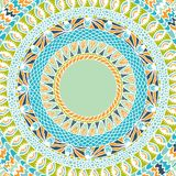 Colorful ethnicity round ornament, mosaic vector Royalty Free Stock Photos