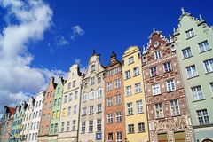 Colorful European Houses, Gdansk Poland Stock Photography