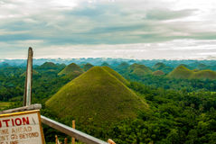 Colorful Evening At The Chocolate Hills Stock Photos