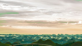 Colorful evening at the chocolate hills Stock Images