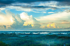 Colorful evening at the chocolate hills Stock Image