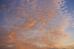 Colorful evening clouds Stock Photo