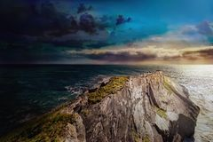 Colorful evening in Mizen Head, southwest of county Cork stock image