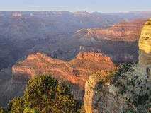 Grand Canyon in Arizona. Colorful evening scenery at the Grand Canyon National Park in Arizona, USA Stock Photos