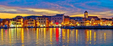 Colorful evening in Town of Vodice Stock Image
