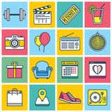 Colorful Events Icons. An illustrated set of different colorful events icons Stock Image
