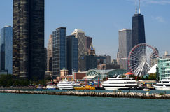 Colorful exciting navy pier Royalty Free Stock Photo