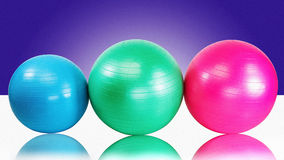Colorful Exercise Balls Royalty Free Stock Images