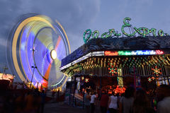Colorful exhibitin rides Stock Images