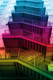 Colorful exit stairs Royalty Free Stock Photos