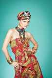 Colorful Exotic Fashion Stock Photography
