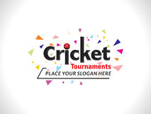 Colorful Explode Cricket Text & Banner Design template Royalty Free Stock Photography