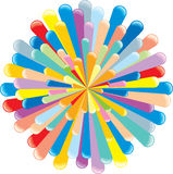 Colorful explosion Stock Image