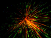 Colorful explosion. Galactic colorful fantasy particles emission in black background Royalty Free Stock Photography