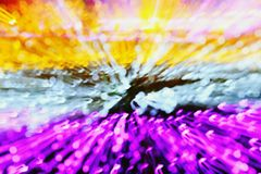 Colorful explosion abstract background Yellow, White, Black, Pink and Purple or Violet. stock images