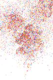 Colorful explosion of confetti.  Colored grainy texture vector. Stock Image