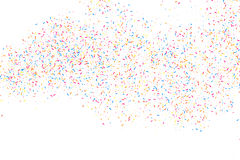 Colorful explosion of confetti.  Colored grainy texture vector. Colorful explosion of confetti. Grainy abstract  multicolored texture  on white background. Flat Royalty Free Stock Image