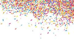 Colorful explosion of confetti.  Colored grainy texture vector. Stock Photo