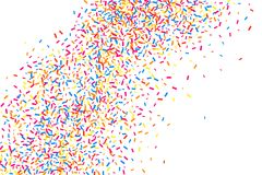 Colorful explosion of confetti.  Colored grainy texture vector. Stock Photography