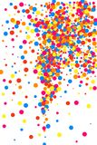 Colorful explosion of confetti.  Colored grainy texture vector. Stock Photos